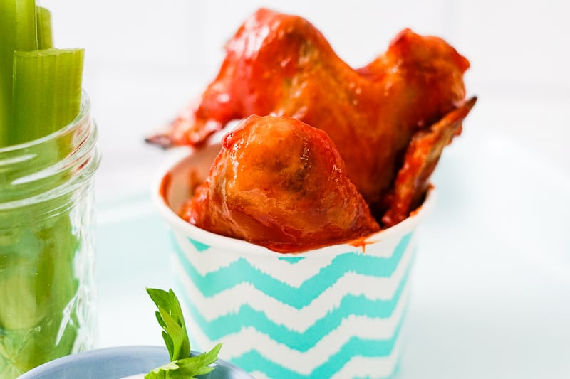 Chicken wings with cannabis BBQ sauce