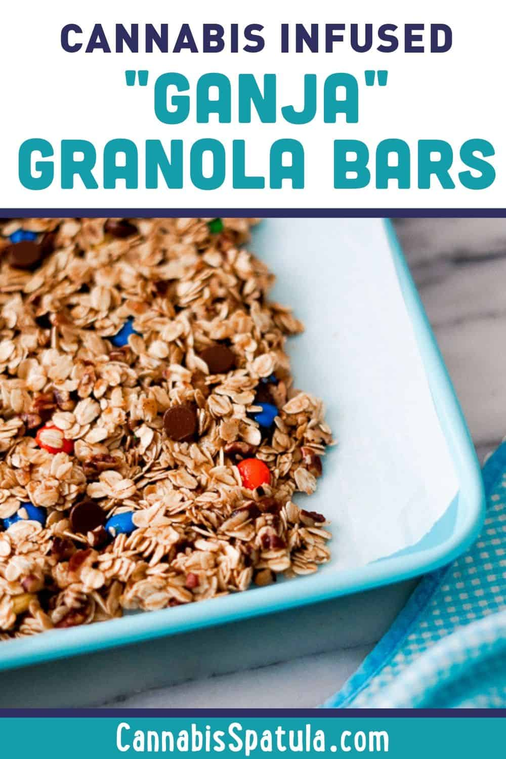 Pinnable Image for Cannabis Infused Granola Bars