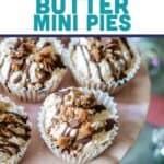 Cannabis Peanut Butter Mini Pies Pin