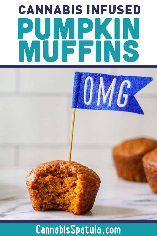 Cannabis Pumpkin Muffins Recipe Pins (1)